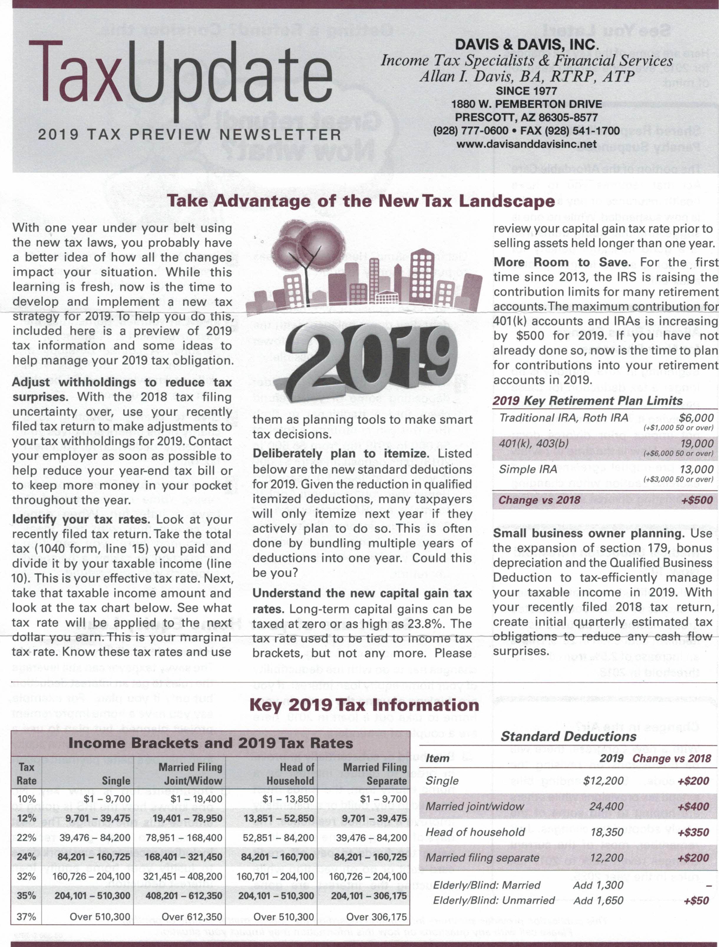 Tax Update Jan 2019